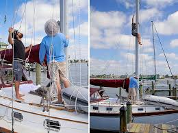 bosun chair sailboat. it\u0027s cost-effective, safe (a well-fitting harness is something you can\u0027t fall out of unlike a bosun\u0027s chair), and easy to store. bosun chair sailboat c
