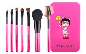 cerro qreen metal box makeup brush set
