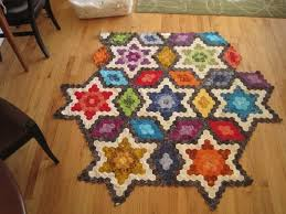 Awesome Hexagon Star Quilt Pattern Free | Quilt Pattern Design & Hexagon Star Quilt Pattern Free 17 best images about hexie quilts on  pinterest grandmothers Adamdwight.com