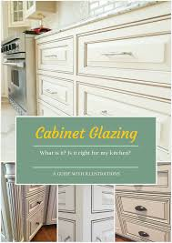 what is cabinet glazing