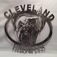 cleveland browns metal wall art browns football by metalartdesignz on cleveland metal wall art with cleveland browns metal wall art browns football metal wall art