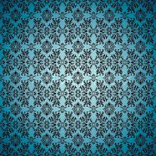 Blue seamless wallpaper background with tile gothic pattern | Stock Vector  | Colourbox