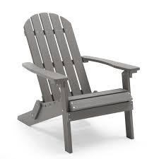 Belham Living All Weather Resin Wood Adirondack Chair - Gray | Hayneedle