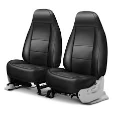 coverking premium leatherette 1st row black charcoal custom seat cover