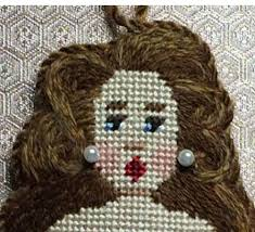 Outline Packed Burmilana For Needlepoint Hair Stitch