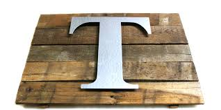 modern wood and metal letter make a rustic wall plaque with craft d i y hobby lobby galvanized light up corrugated