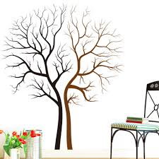 two naked trees wall art mural decal sticker living room bedroom background loving tree wall decor poster 85 x 100cm two naked trees wall art mural decal  on tree wall art decals vinyl sticker with two naked trees wall art mural decal sticker living room bedroom