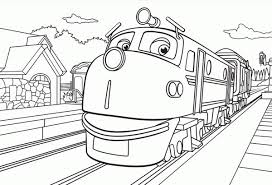 Small Picture Action Chugger Going to Town in Chuggington Coloring Page