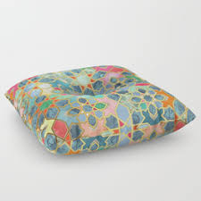 moroccan floor pillows. Interesting Pillows Gilt U0026 Glory  Colorful Moroccan Mosaic Floor Pillow For Pillows