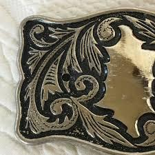 Vintage Cowgirl or Cowboy Belt Buckle. Ornate Silver Buckle | Etsy