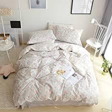 vintage flower sheets amazon com bulutu floral girls duvet cover set queen cotton grey