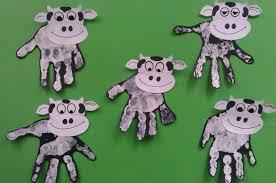 Przedszkolne Nowinki: Krowa - odbijanie dłoni