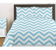 turquoise and white chevron 4pc childrens and kids zig zag twin bedding set collection only 33 92