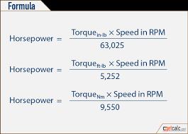 Torque Horsepower Conversion Calculator