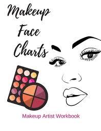 Makeup Face Charts Makeup Artist Workbook Blank Face