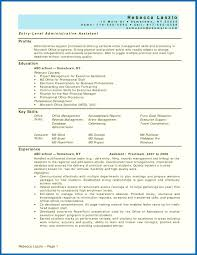 Objective For Resume Administrative Assistant Sample Job Description