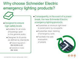 why choose schneider electric emergency lighting s