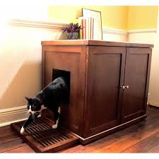 enclosed litter box furniture. The Refined Hidden Kitty Enclosed Wooden Furniture Litter Box Free Shipping On Orders Over