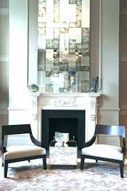 fireplace mantel mirrors mirror over how big should be mantels fire over fireplace