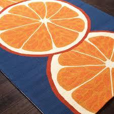 jaipur rugs grant citrus 5 x 7 6 indoor outdoor rug orange blue ultimate patio