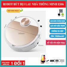 Robot Hút Bụi Lau Nhà Cao Cấp ES06 , Robot Hút Bụi Đa Chức Năng Lau-Hut-