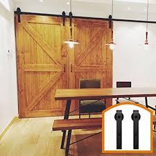 homedeco hardware 9 ft antique style sliding barn door hardware kit double building