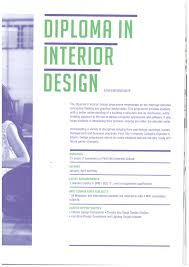 diploma in interior design course first city university college brochure