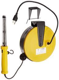 bayco sl 864 60 led work light on metal reel with 50 foot cord