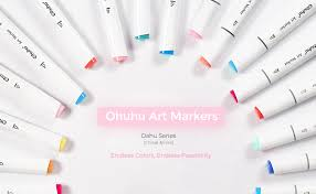 Ohuhu Color Chart 80 Colors Alcohol Markers Ohuhu Dual Tips Permanent Art Markers For Kids Highlighter Pen Sketch Markers For Drawing Sketching Adult Coloring