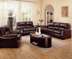 Leather Sofa Design Living Room Lovely Bright Living Room Design With Stylish Dark Brown Leather