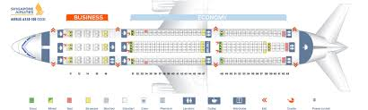 Airbus A330 Seating Chart Seat Map Airbus A330 300 Singapore Airlines Best Seats In Plane