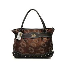 Coach Waverly Stud In Signature Large Coffee Satchels DNZ
