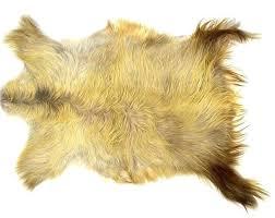 angora goatskin rug goat skin real throw mohair rectangular