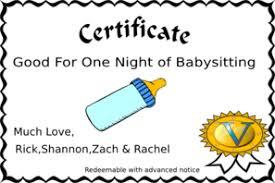 babysitting certificates babysitting coupon clip art at clker com vector clip art