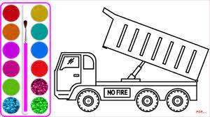 34+ Tranh tô màu xe tải đẹp nhất dành cho bé trai