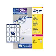 Print Address Labels Avery Mini Address Labels Laser 65 Per Sheet 38 1x21 2mm White Ref L7651 25 1625 Labels