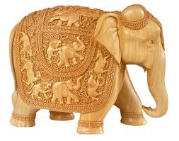 carved sandalwood elephant 1