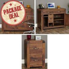 solid walnut hidden home office. Shiro Solid Walnut Home Office Furniture Hidden Desk And Filing Cabinet Package K