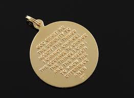 14k 6 6g the lord s prayer hands praying yellow gold charm pendant