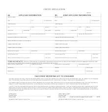 Free Credit Application Form Templates Samples Generic Crevis Co