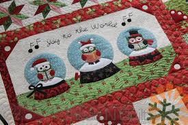 Piece N Quilt: Snow Globe Village Quilt - Custom Machine Quilting ... & Before I left to film my Craftsy class I custom machine quilted this  darling Snow Globe Village quilt for my local quilt shop; Quilted Works. Adamdwight.com