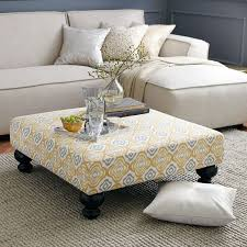 fabric coffee table. Elegant Fabric Coffee Table Diy Pallet Tufted Tableottoman E