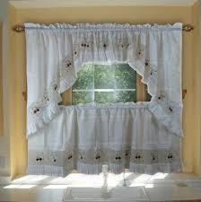 Of Kitchen Curtains White Swag Kitchen Curtains