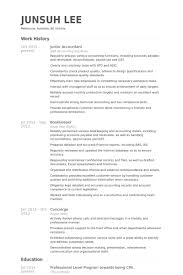 Junior Accountant Resume Samples Visualcv Resume Samples Database