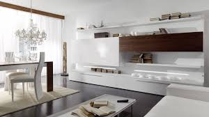 Living Room Wall Unit Living Room Cozy Large Living Area With Glossy White Storage