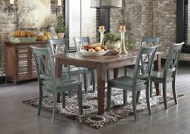 ashley mestler dining table with 6 chairs and sideboard rustic dining room