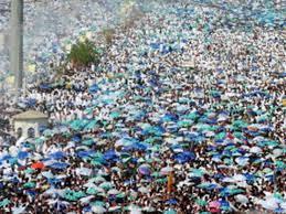 أكثر من مليوني حاج وقفوا على جبل عرفات لأداء الركن الأعظم للحج