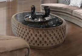 tufted round coffee table