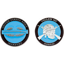 challenge coin army bat infantry coin