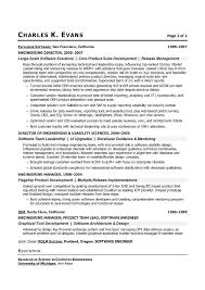 Gallery of: Sample Resume for a Software Engineer